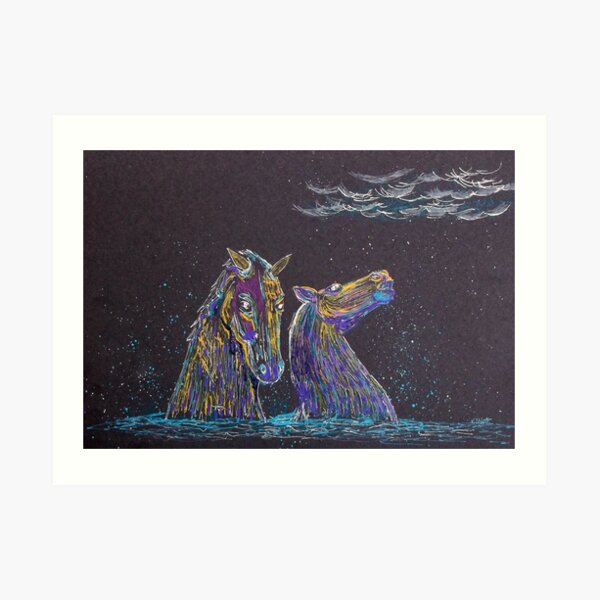 The Kelpies Art Print