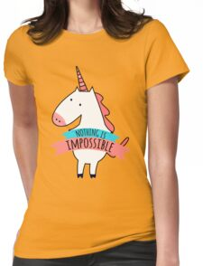 Cute Unicorn Nothing Impossible Womens Fitted T-Shirt