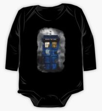 Haunted blue phone booth One Piece - Long Sleeve