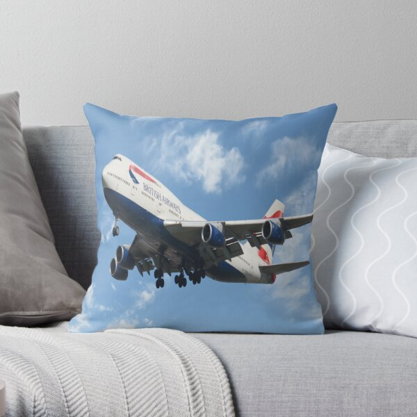 British Airways Boeing 747-400  Throw Pillow
