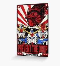 Prevent the Drop Greeting Card