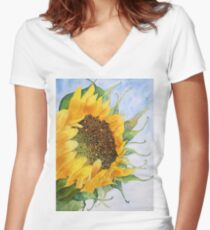Sunkissed Women's Fitted V-Neck T-Shirt
