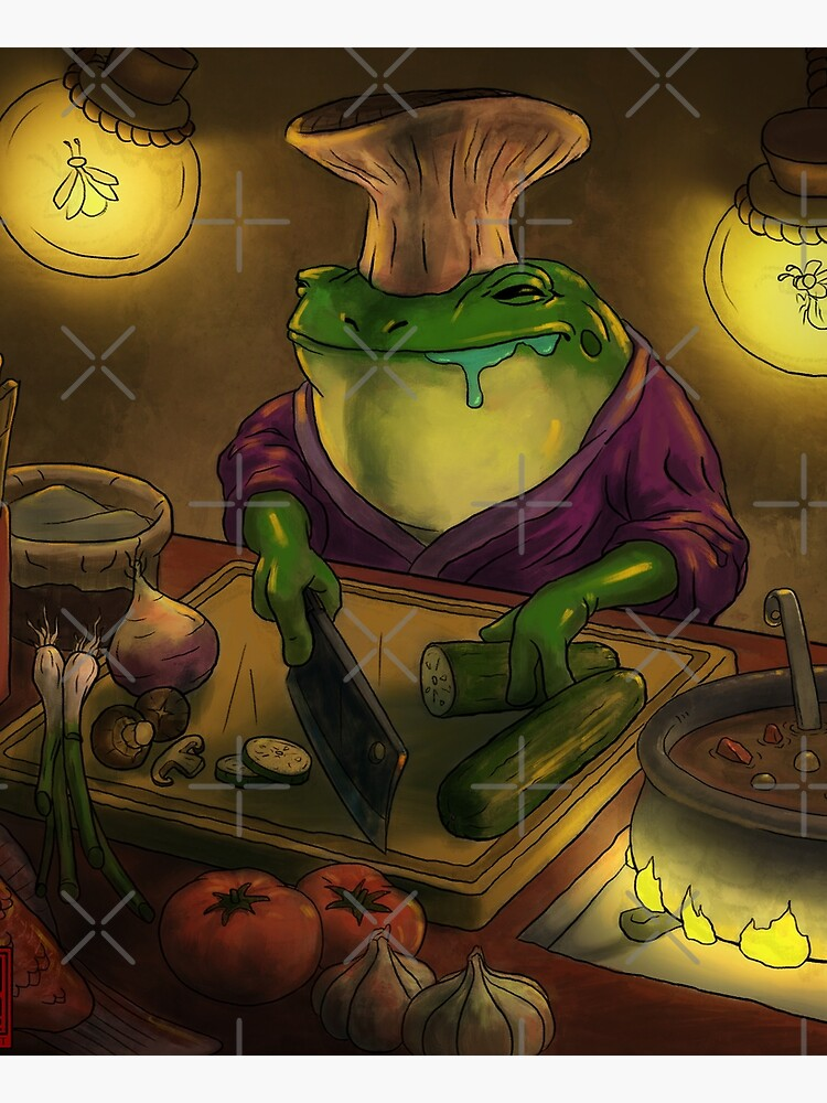 Frog Chef by DingHuArt