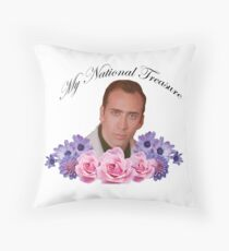 Nicholas Cage - My National Treasure Throw Pillow