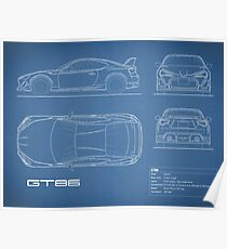 The GT86 Blueprint Poster