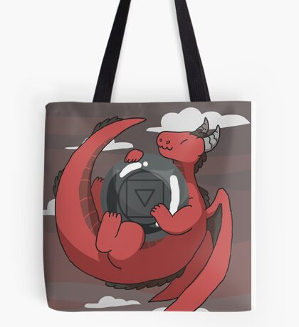 Hematite Dragon Tote Bag