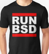 RUN BSD - Parody Design for Unix Hackers / Sysadmins T-Shirt