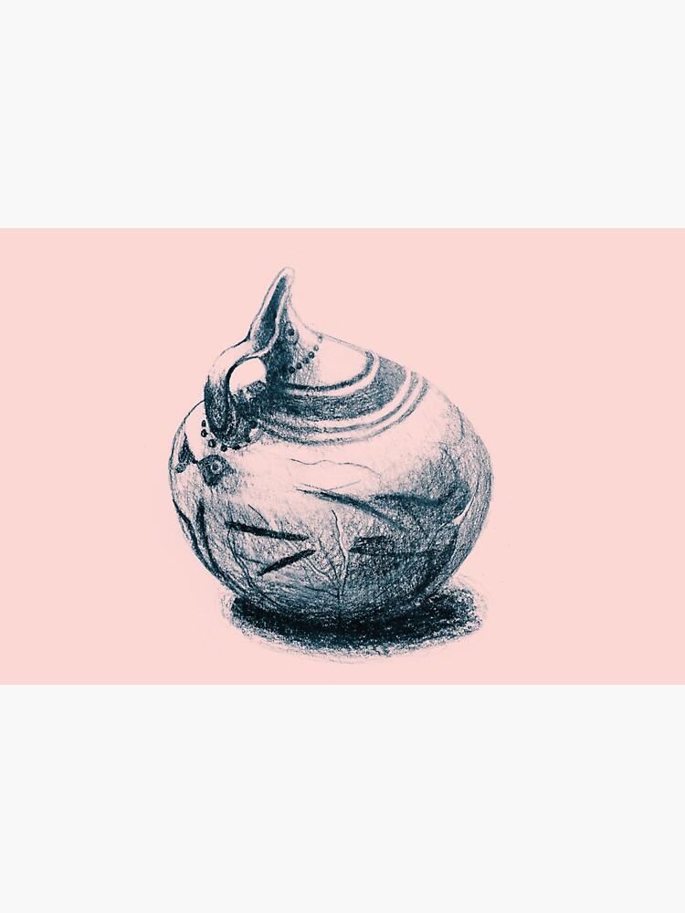 Ancient Greek Pottery Drawing by oanaunciuleanu
