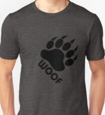 Bear Pride Bear Claw Woof Slim Fit T-Shirt