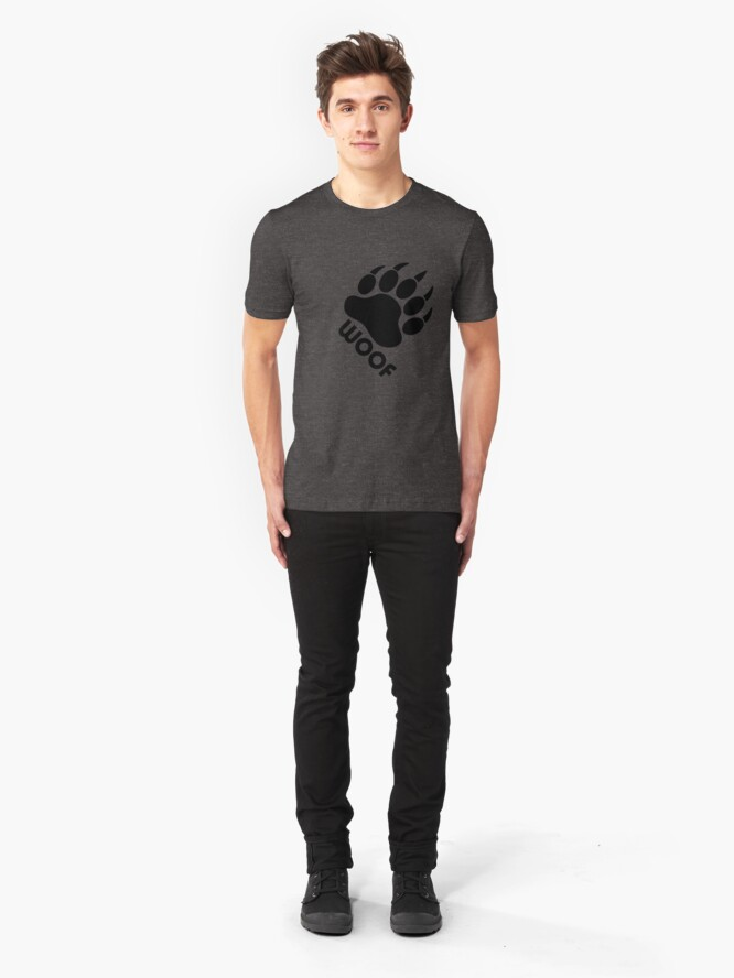 Alternate view of Bear Pride Bear Claw Woof Slim Fit T-Shirt