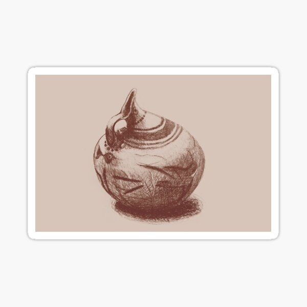 Ancient Greek Pottery Drawing Sticker