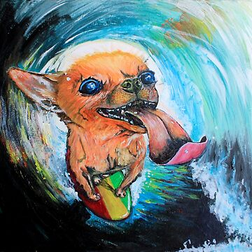 """Sushi the Surf Dog"" by Spy-ralGrinder"