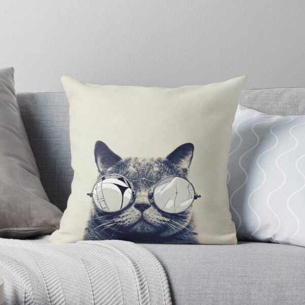 This Cat Rocks! Throw Pillow