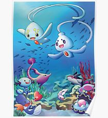 Pokemon underwater Poster