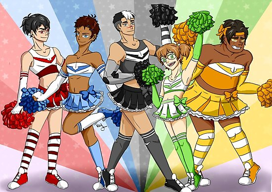 """Voltron Legendary Defender Cheerleaders!"" Photographic ..."