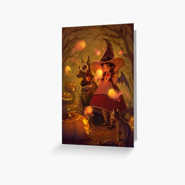 Spirits of Halloween Greeting Card
