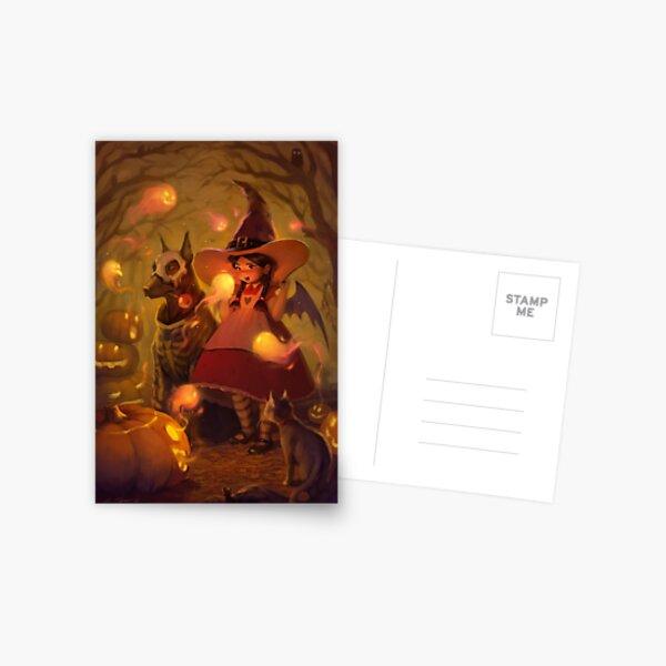 Spirits of Halloween Postcard