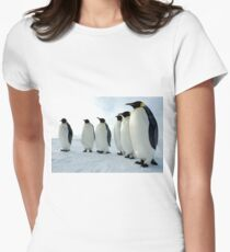 Lined up Emperor Penguins Women's Fitted T-Shirt