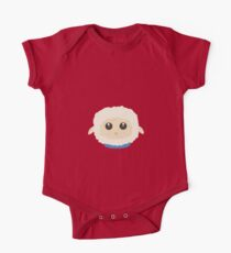 Cute little sheep with blue collar One Piece - Short Sleeve