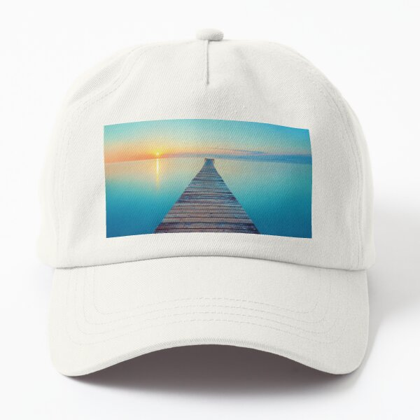 Sun Rise with Blue Lake Dad Hat
