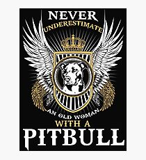 Pit bull shirt Photographic Print