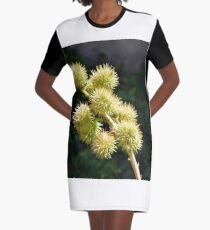 Natural green branch with spikes Graphic T-Shirt Dress