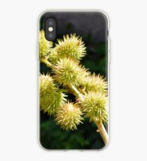 Natural green branch with spikes iPhone Case