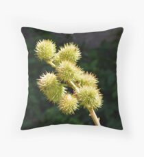 Natural green branch with spikes Throw Pillow
