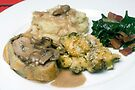 Pork Tenderloin in Puff Pastry w/ Assorted Vegetables by wolftinz