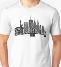 Linocut New York T-Shirt