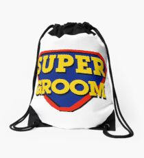 Super Groom Drawstring Bag