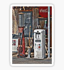 Vintage Gas Pumps Sticker