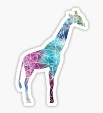 Multi-Colored Watercolor Geometric Giraffe Sticker