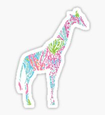 Lilly Pulitzer Geometric Giraffe Sticker