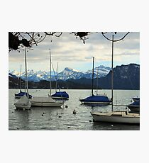 Let's Go Sailing Amongst the Mountains Photographic Print