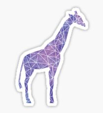 Purple Watercolor Geometric Giraffe Sticker