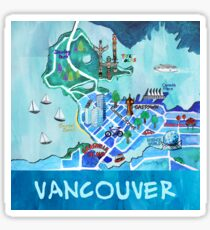 Vancouver Illustrated Map Sticker