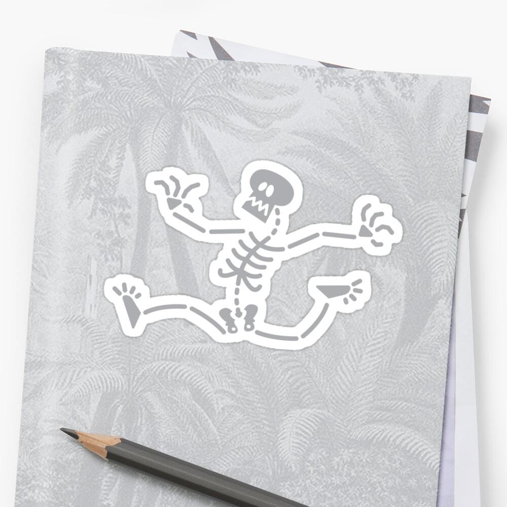 Skeleton Running Away by Zoo-co