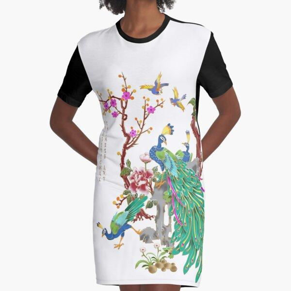 Traditional Chinese Art Vol.5 Graphic T-Shirt Dress