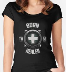 Born to be healer Women's Fitted Scoop T-Shirt