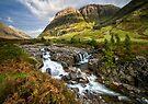 Falls of Glencoe Highlands of Scotland by Angie Latham
