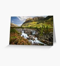 Falls of Glencoe Highlands of Scotland Greeting Card