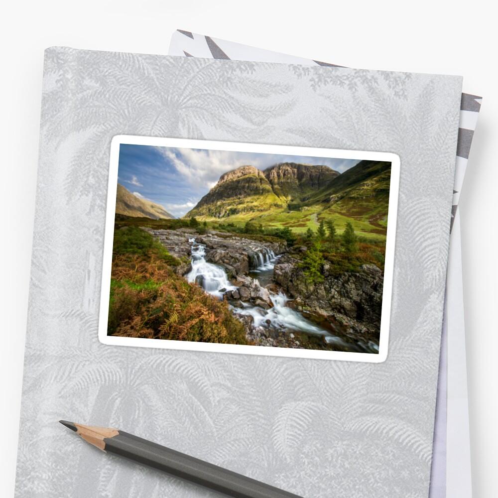 Falls of Glencoe Highlands of Scotland Sticker