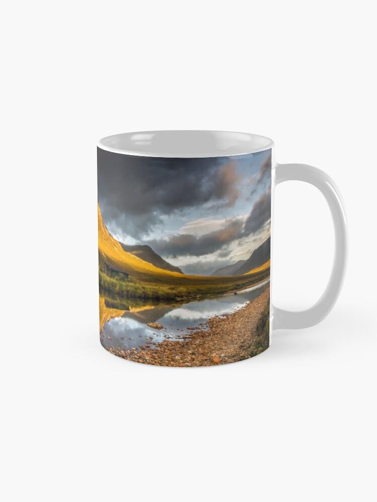 Alternate view of Golden light on Buachaille Etive Mor Scotland Mug