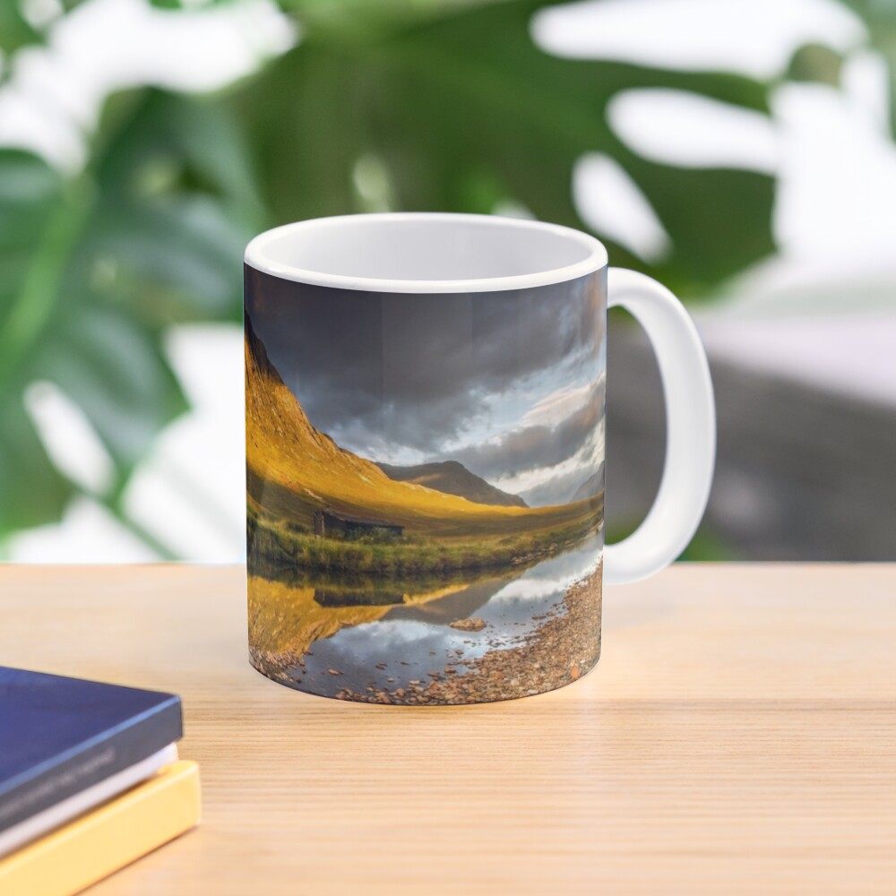 Golden light on Buachaille Etive Mor Scotland Mug
