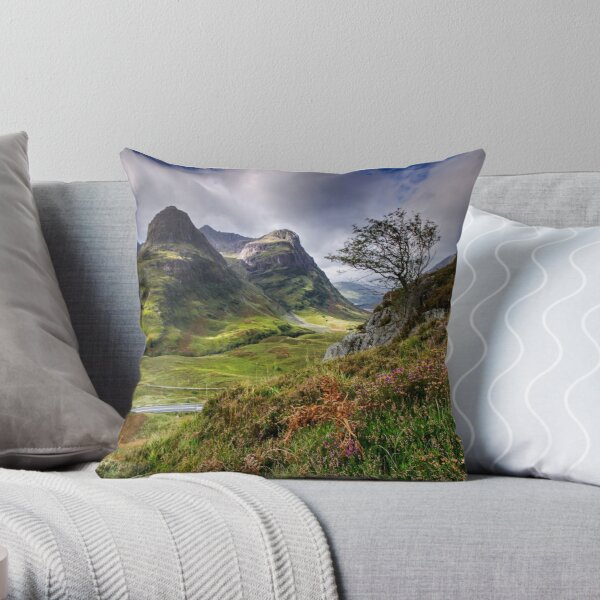 Three Sisters of Glencoe  Throw Pillow