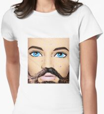 Pop Art Man - Those Blue Eyes Though! Women's Fitted T-Shirt