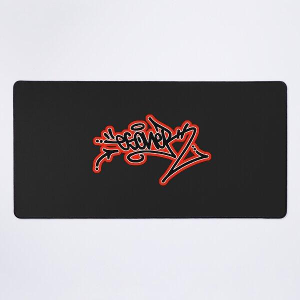 RED ESONER TAG URBAN GRAFFITI STREET STYLE  Desk Mat