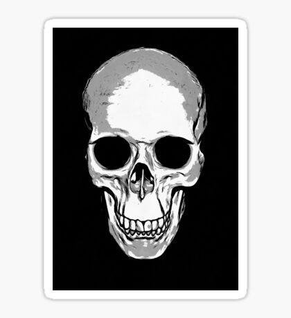 Monotone Skull Sticker