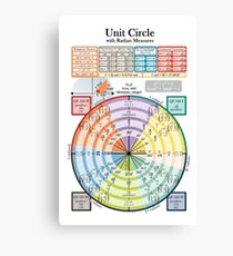Unit Circle Canvas Print